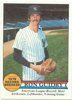 1979 Topps #202 Ron Guidry Front