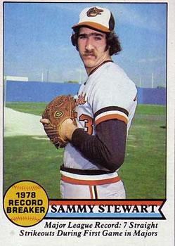 1979 Topps #206 Sammy Stewart Front
