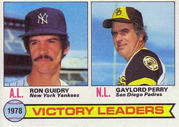 1979 Topps #5 1978 Victory Leaders - Ron Guidry / Gaylord Perry Front