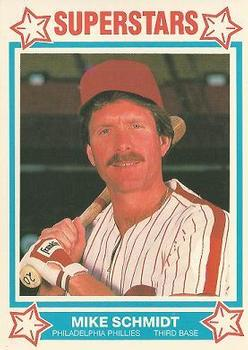 1989 MSA Cereal Superstars #4 Mike Schmidt Front