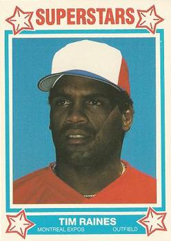 1989 Cereal Superstars #6 Tim Raines Front