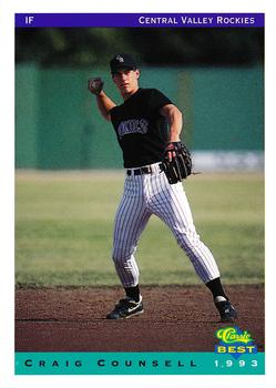 1998 Collectors Choice Baseball Card #101 Craig Counsell