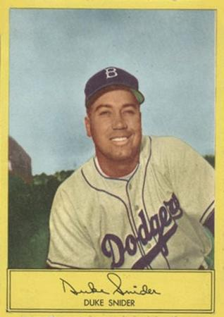 1954 Stahl-Meyer Franks #12 Duke Snider Front