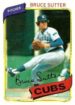 1980 Topps #17 Bruce Sutter Front
