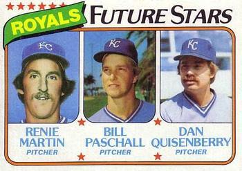 1980 Topps #667 Royals Future Stars - Renie Martin / Bill Paschall / Dan Quisenberry Front