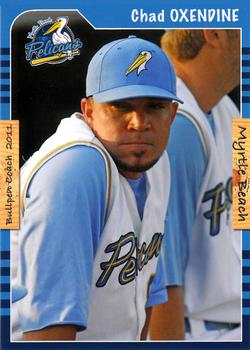 2011 Grandstand Myrtle Beach Pelicans #4 Chad Oxendine Front