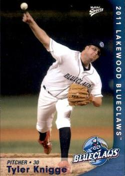 2011 MultiAd Lakewood BlueClaws #17 Tyler Knigge Front