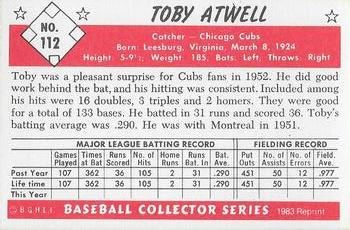 1953 Bowman Color #112 Toby Atwell Chicago Cubs Baseball Card