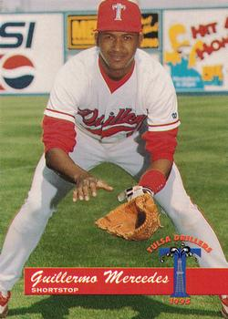1995 Tulsa Drillers #14 Guillermo Mercedes Front