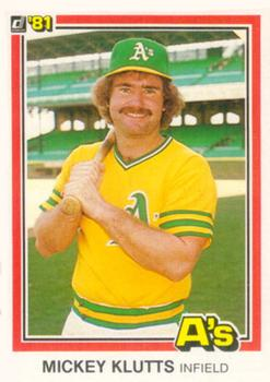 1981 Donruss #110 Mickey Klutts Front