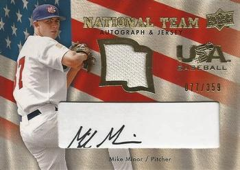aa75a2653 2008 Upper Deck - USA National Team Jersey Black Autographs  USA-MM Mike  Minor