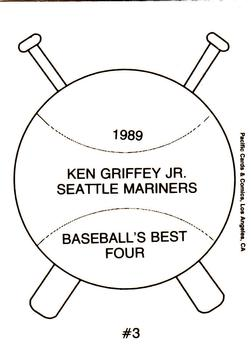 1989 Pacific Cards & Comics Baseball's Best Four (unlicensed) #3 Ken Griffey Jr. Back