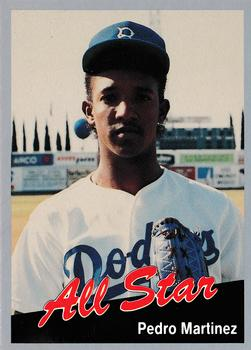 1991 Cal League All-Stars #1 Pedro Martinez Front