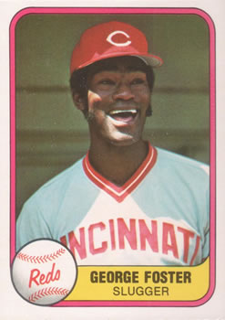 1981 Fleer #202 George Foster Front