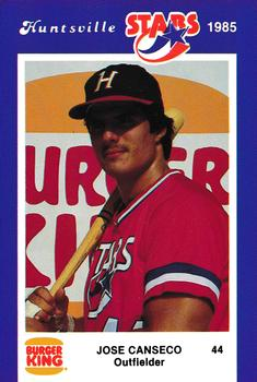 1985 Burger King Huntsville Stars #NNO Jose Canseco Front