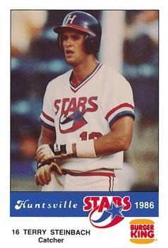 1986 Burger King Huntsville Stars #NNO Terry Steinbach Front