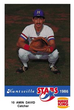 1986 Burger King Huntsville Stars #NNO Amin David Front