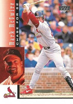 1998 Upper Deck Mark McGwire's Chase for 62 #7 Mark McGwire Front