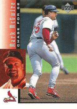 1998 Upper Deck Mark McGwire's Chase for 62 #9 Mark McGwire Front