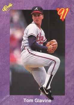 1991 Classic Game #17 Tom Glavine Front