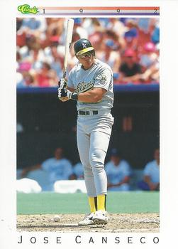 1992 Classic I #T22 Jose Canseco Front