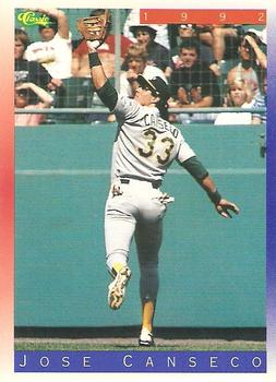 1992 Classic II #T3 Jose Canseco Front