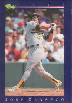 1992 Classic Game #110 Jose Canseco Front