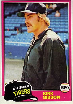 1981 Topps #315 Kirk Gibson Front