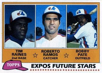 1981 Topps #479 Expos Future Stars - Tim Raines / Roberto Ramos / Bob Pate Front