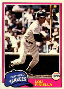 1981 Topps #724 Lou Piniella Front