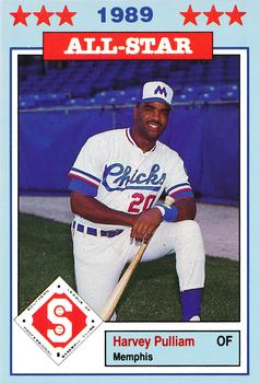 1989 Jennings Southern League All-Stars  #1 Harvey Pulliam Front