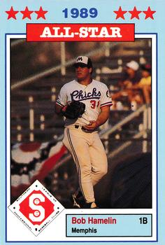 1989 Jennings Southern League All-Stars  #9 Bob Hamelin Front