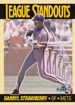 1990 Fleer - League Standouts #3 Darryl Strawberry Front