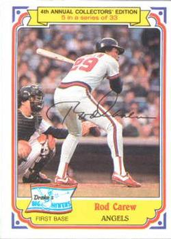 1984 Topps Drake's Big Hitters #5 Rod Carew Front
