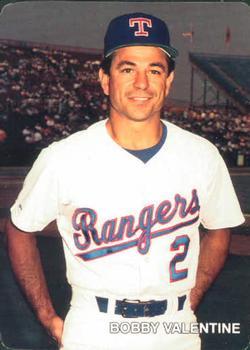 1987 Motheru0027s Cookies Texas Rangers #1 Bobby Valentine Front