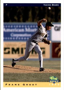 1993 Classic Best Yakima Bears #10 Frans Groot Front