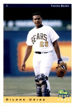 1993 Classic Best Yakima Bears #24 Dilone Uribe Front