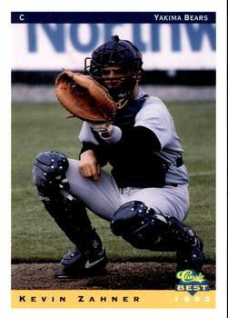 1993 Classic Best Yakima Bears #27 Kevin Zahner Front
