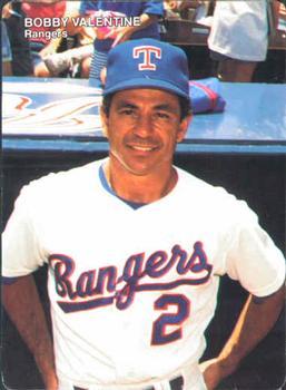 1990 Motheru0027s Cookies Texas Rangers #1 Bobby Valentine Front