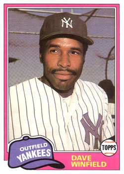 1981 Topps Traded #855 Dave Winfield Front