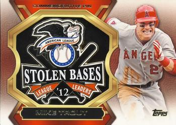 2013 Topps Update - League Leaders Pins #LLP-MT Mike Trout Front