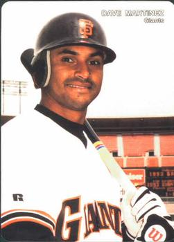 1993 Mother's Cookies San Francisco Giants #16 Dave Martinez Front