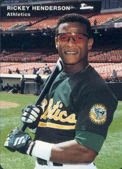 1994 Mother's Cookies Oakland Athletics #6 Rickey Henderson Front