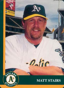 1998 Mother's Cookies Oakland Athletics #5 Matt Stairs Front