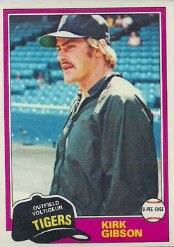 1981 O-Pee-Chee #315 Kirk Gibson Front