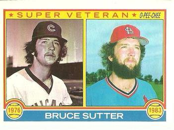 1983 O-Pee-Chee #151 Bruce Sutter Front
