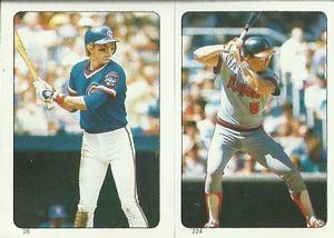1985 Topps Stickers #38 / 224 Bob Dernier / Brian Downing Front