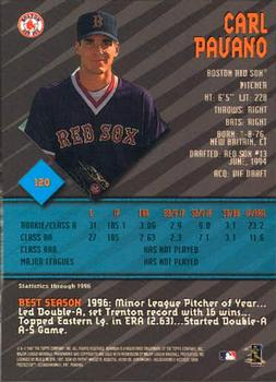 1997 Bowman's Best #120 Carl Pavano Back