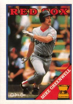 1988 O-Pee-Chee #274 Mike Greenwell Front