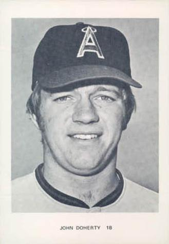 1974 California Angels Photocards #NNO John Doherty Front